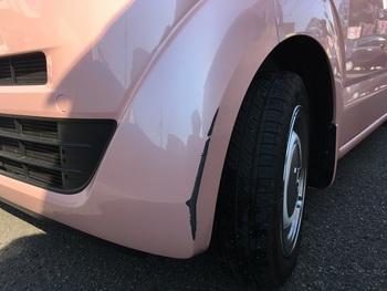 キズ修理-ホンダ「NBOX」-フロントバンパー左側 / 和歌山の板金塗装・自動車修理はプロモワカヤマ