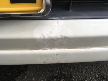 スズキ「スペーシア」のキズと塗装の剥がれ / 和歌山の板金塗装・自動車修理はプロモワカヤマ