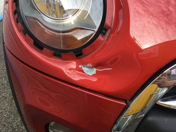 台風被害!!3Drのミニ「キズヘコミ修理」 / 和歌山の板金塗装・自動車修理はプロモワカヤマ