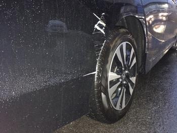 ホンダ「シャトル」、右クォーターとリアバンパー / 和歌山の板金塗装・自動車修理はプロモワカヤマ