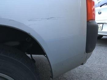 左クォーターのキズ→トヨタ「プロボックス」 / 和歌山の板金塗装・自動車修理はプロモワカヤマ